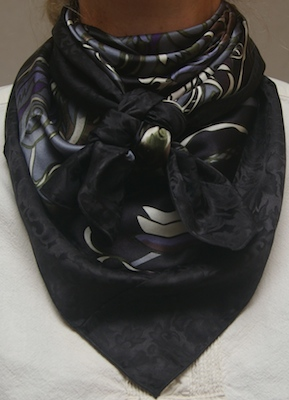 Fantasia Dark Grey w/Black Jacquard Combo Scarf #23