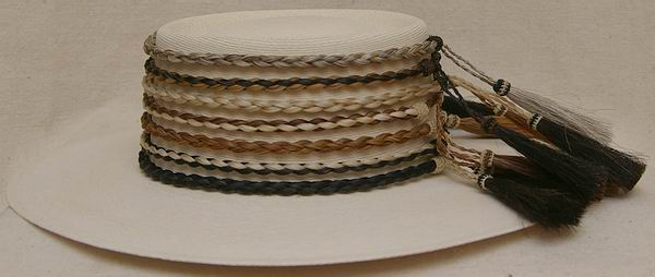 Braided Horse Hair Hat Bands. Horsehair Braided Hat Bands Only White a7b33a6a4231