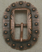 Antique Copper Oval Berry Buckle
