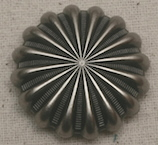 Antique Nickel Pinwheel Concho