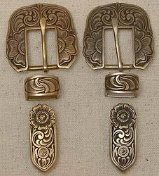 John Mincer 3 Piece Buckle Sets Brass/Bronze