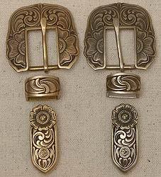 John Mincer 3 Piece Buckle Sets Brass/Bronze