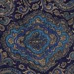 Blue Gold Paisley Bandana Scarf