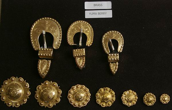 Brass Yuma Berry Buckles and Conchos