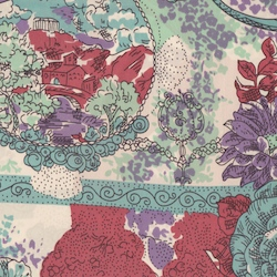 Cowboy Images Teal Flower Paisley