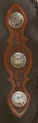 #228 ChinksJM #16 Bronze Conchos