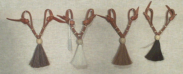 Leather Curb Straps with Tassels