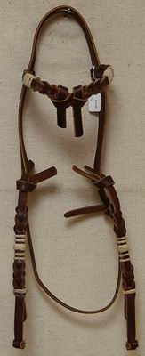 Bosal Hanger with Rawhide knots and rings