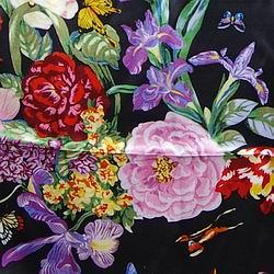 Cowboy Images Multi Flower on Black