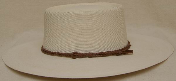Braided Leather Hat Band