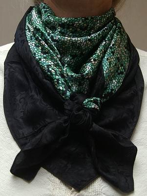 Lichen Green w/Black Jacquard Combo Scarf #10