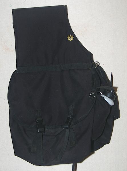 Large Canvas Saddle Bag
