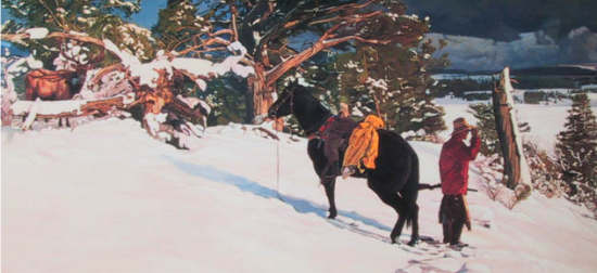 Western Art If Horses Could Talk by Wayne Justus