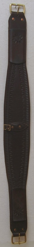 "4"" oval roper leather back cinch"