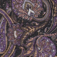 Wyoming Trader Navy Brown Paisley Silk Scarf