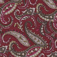 Wyoming Trader Wine Olive Paisley