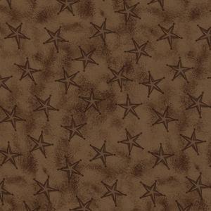 Austin Accents Stars Brown 100% Silk Scarf