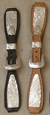 Women's Watch Bands with Silver Plating in Black and Natural