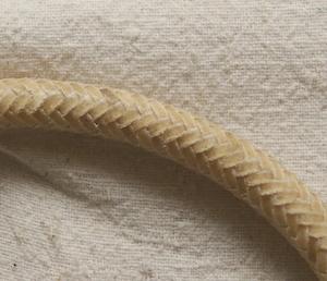 Closeup of Rawhide Nose Band