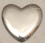 "Polished 3"" Heart Concho"