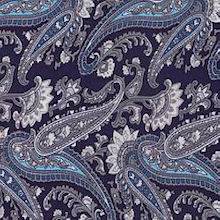 Cowboy Images Midnight Blue Paisley Scarf