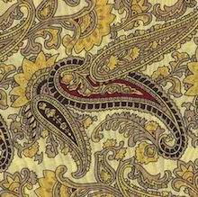 Cowboy Images Gold Paisley Silk Scarf
