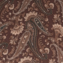 Cowboy Images Saddle Brown Paisley Silk Scarf