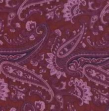 Cowboy Images Wine Paisley Scarf