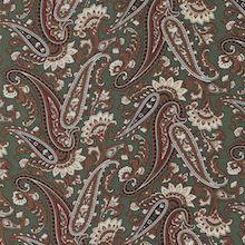 Cowboy Images Green Olive Paisley