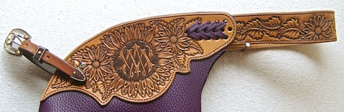 Sunflower Tooled Custom Chinks