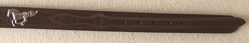 Brown Ranger Belt with Horse Conchos