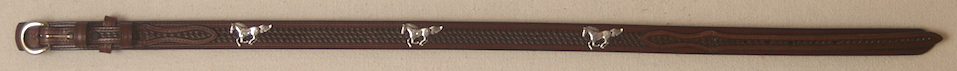Brown Ranger Belt with Horse Conchos