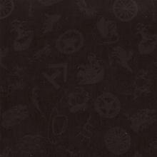 Cowboy Logo Black Silk Scarf