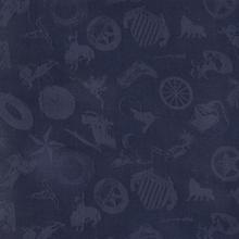 Cowboy Logo Navy Silk Scarf