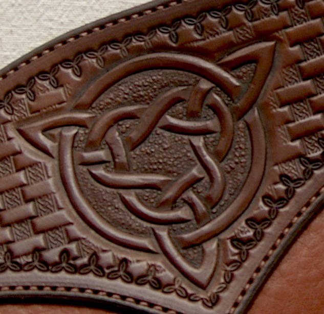 Tooled Leather Celtic Knot