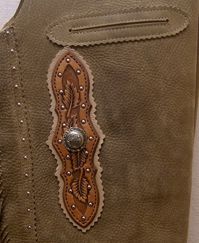 Custom Chaps Floral Tooled For Sale