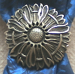 Jeremiah Watt Daisy Antique Bronze Scarf Slide