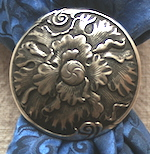 Jeremiah Watt Single Flower Antique Bronze Scarf slide