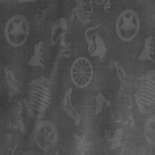 Cowboy Logo Charcoal Silk Scarf