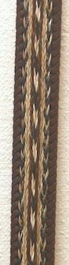 32 Horse Hair Belt Brown
