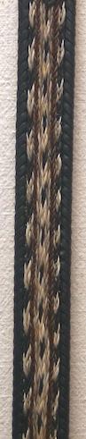 """34"""" Horse Hair Braided Black Belt"""