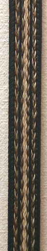 "36"" Horse Hair Braided Black Belt"