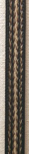 """36"""" Horse Hair Braided Black Belt"""