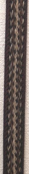 """40"""" Horse Hair Braided Brown Belt"""