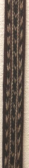 """42"""" Horse Hair Braided Brown Belt"""
