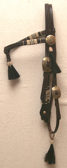 Stock Headstall with JM Conchos and Buckles