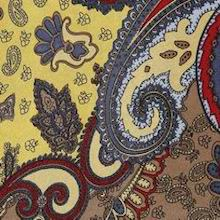 Cowboy Images Gold & Rust Paisley Silk Scarf
