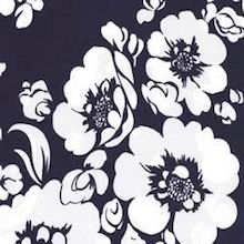 Cowboy Images White Flower on Navy