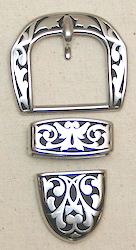 Jeremiah Watt Floral Paul's Buckle Set