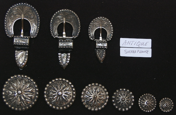 Hansen's Sierra Flower Antique Conchos and Buckles